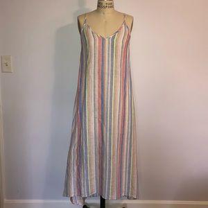 C&C California 100% Linen Maxi Dress